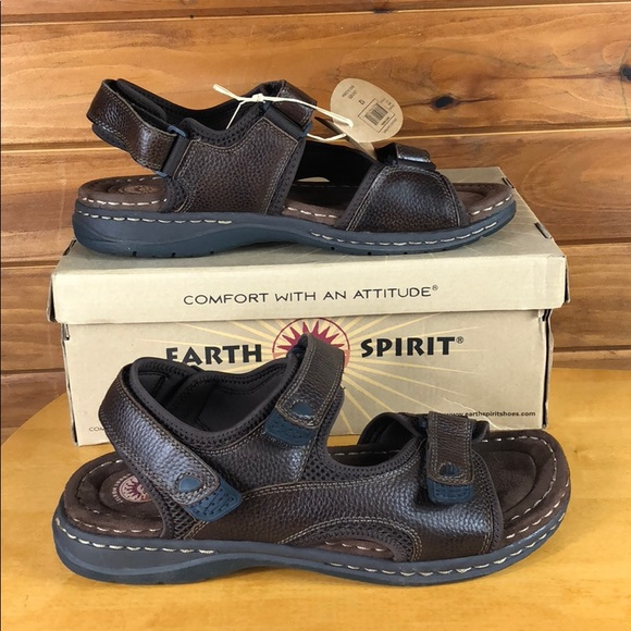 Earth Spirit Other - Earth Spirit 🔵 Men's Two Strap Leather Sandals 12